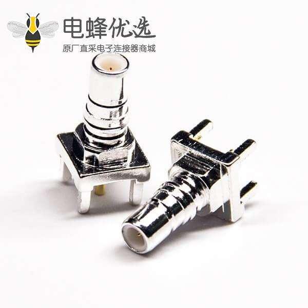 直式SMB接头接PCB板公头插孔连接器