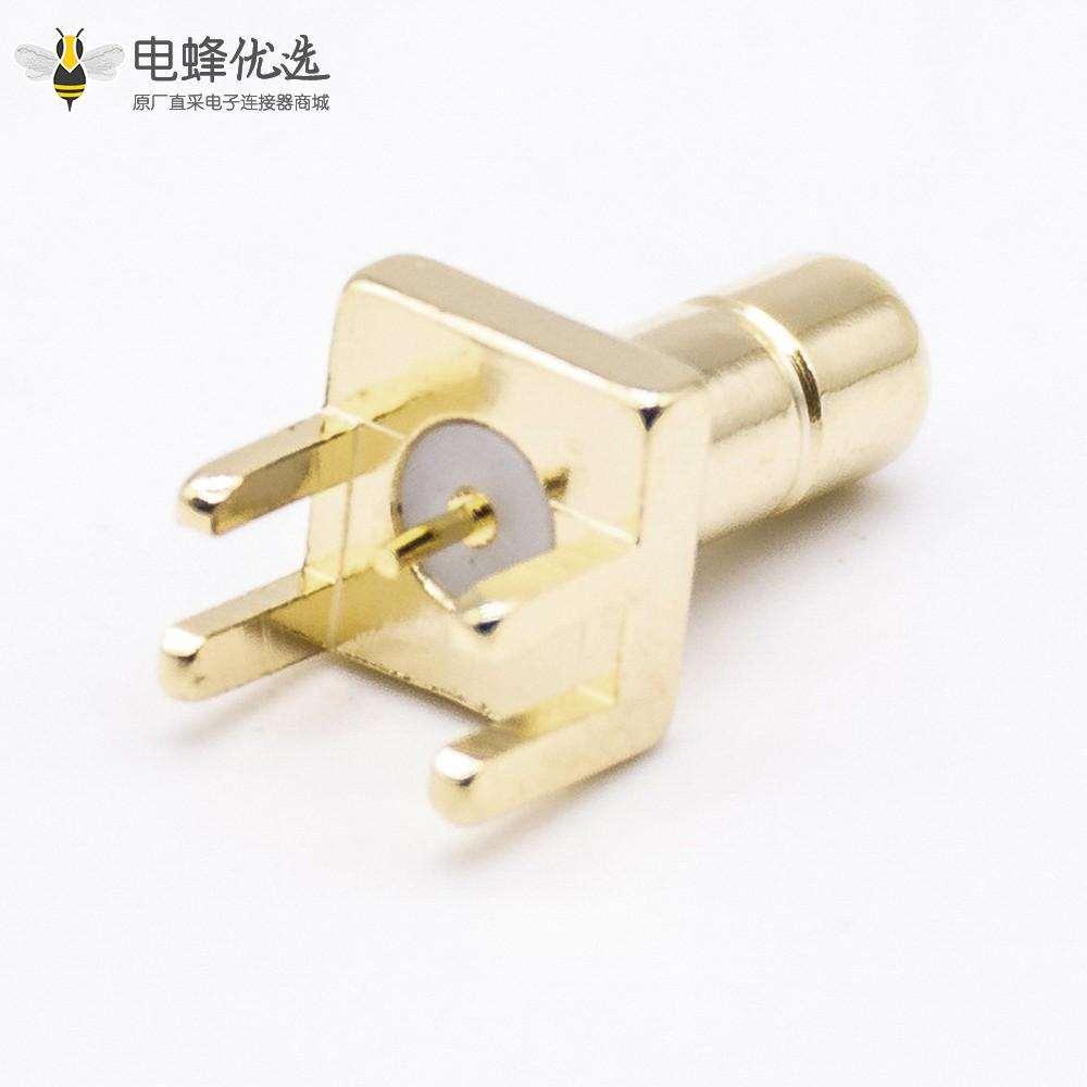 公头SMB接口直式接PCB180度卡板射频同轴连接器