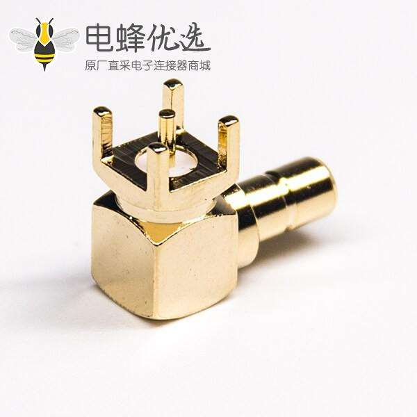 公头弯式SMB插孔式射频同轴连接器