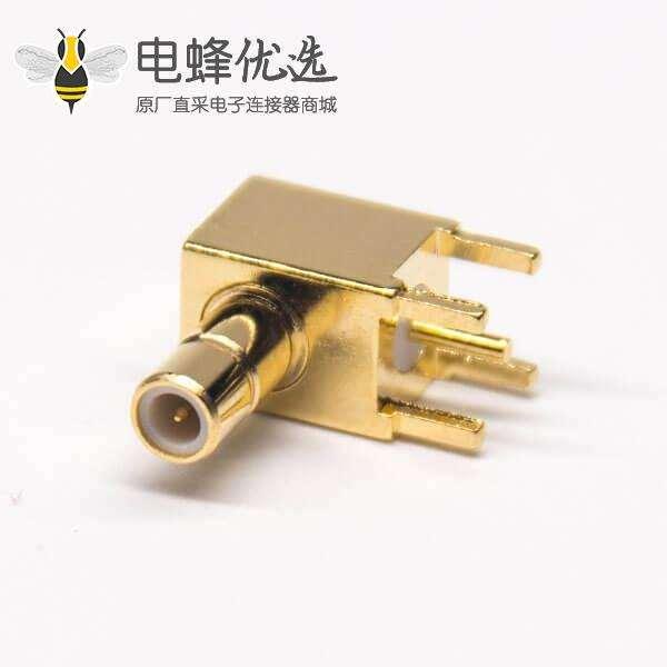 sma pcb连接器公头弯式90度镀金50欧姆