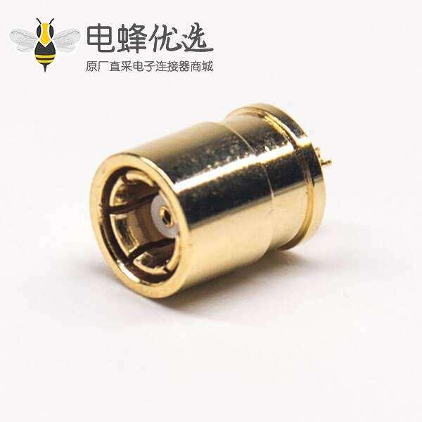 焊线式SMB母头直式180度射频同轴连接器