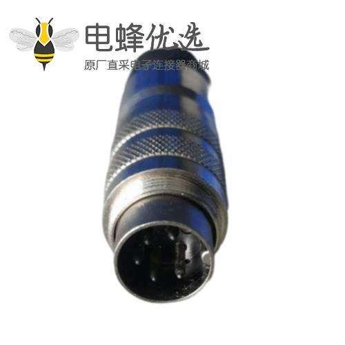 M16插头5芯公头焊接式带屏蔽直式M16圆形连接器