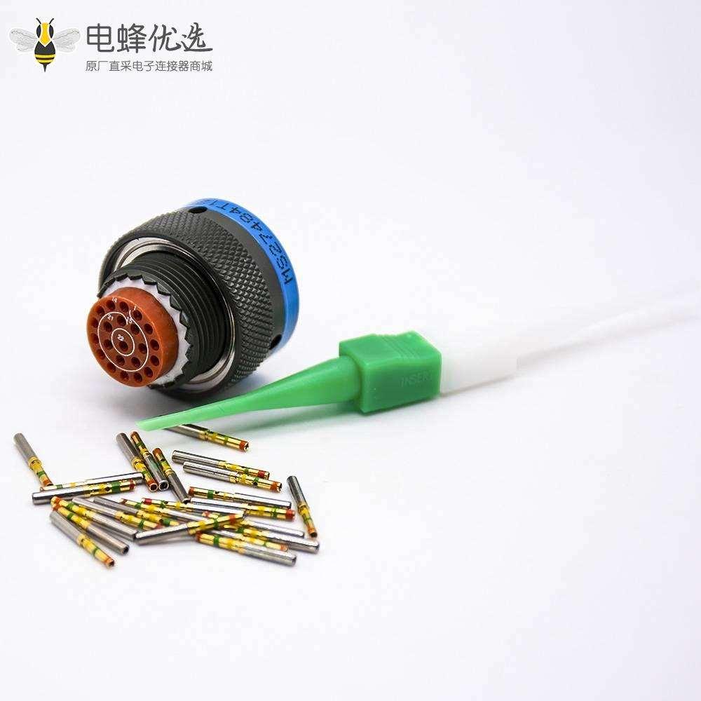 圆形插头连接器22芯插头母型插口D38999