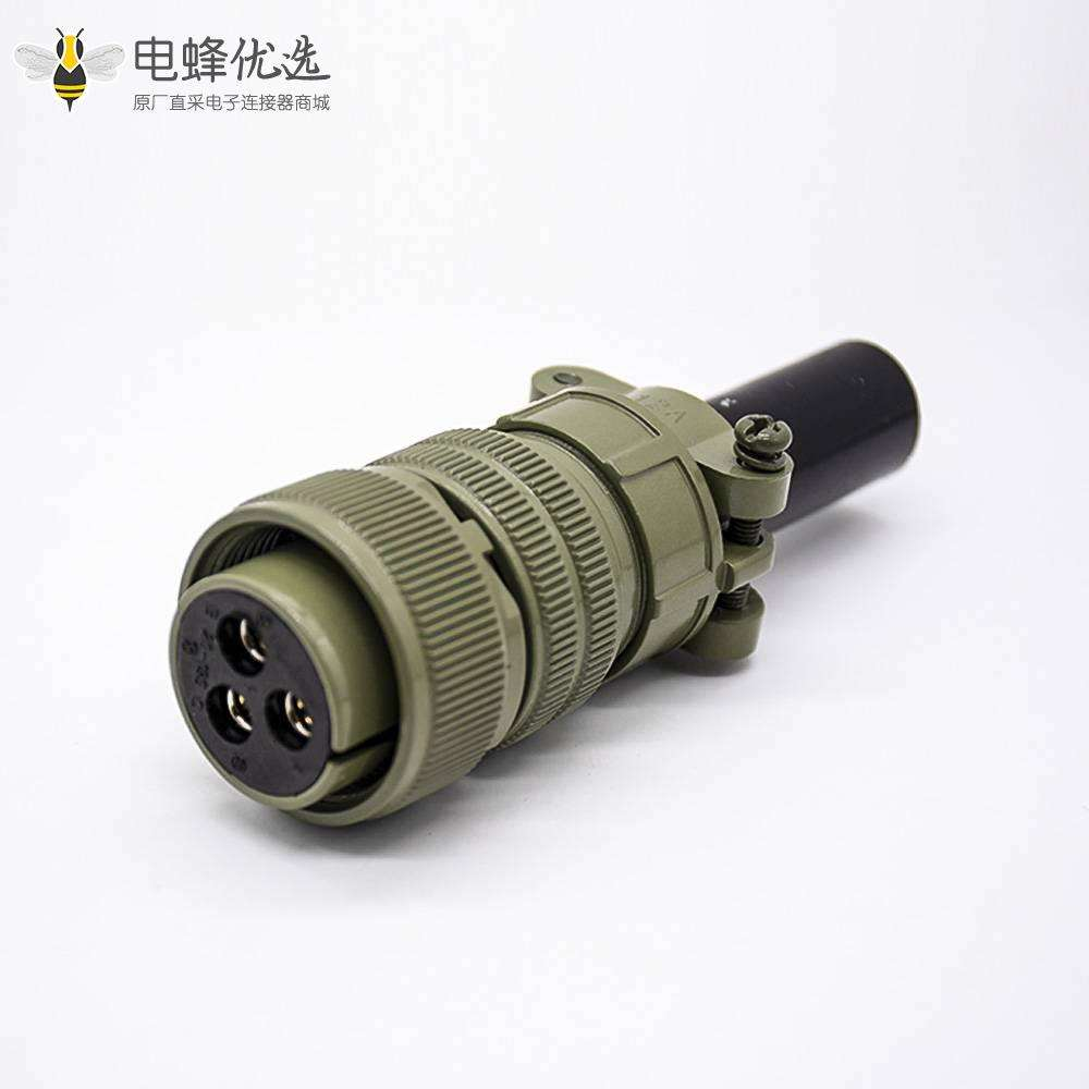 航空接插头MS5015直式3芯20壳体号方形公插座母插头