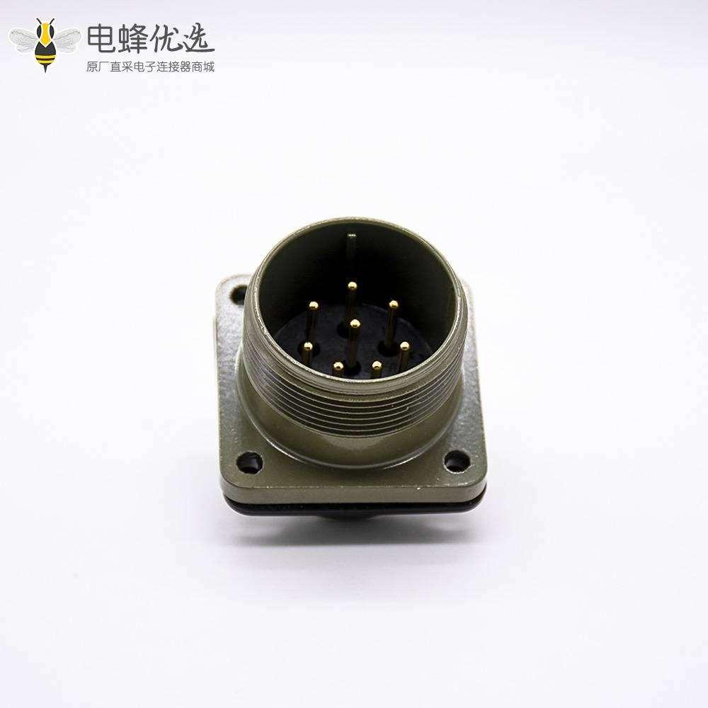 MS5015连接器20壳体号8芯直式方形四孔法兰公插座母插头