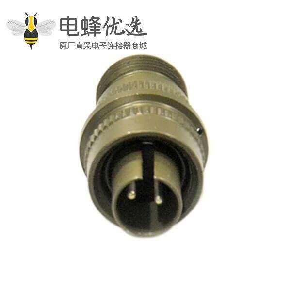 圆形连接器MS3106A-10SL-4P 2芯航空插头