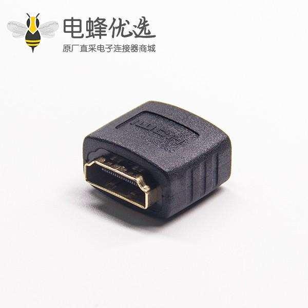 HDMI A转换器黑色公转母网络直通