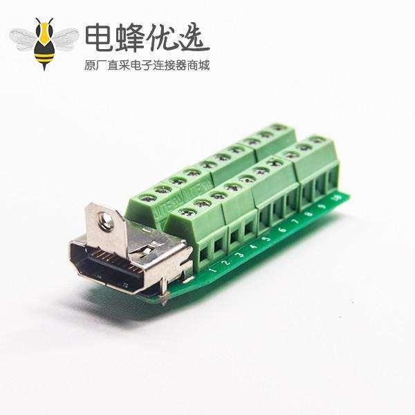 HDMI端子转换器HDMI母转绿色端子母座