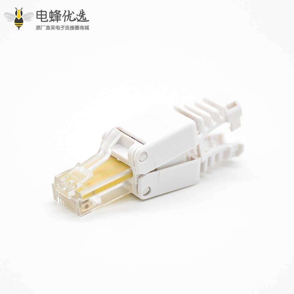 RJ45水晶插头直式非屏蔽六类插孔8芯网络插头