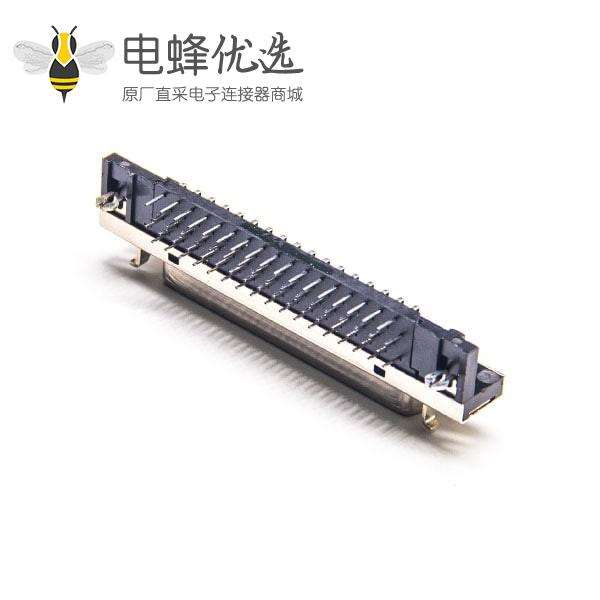 SCSI68连接器HPDB型90度弯式母头插板面板安装插座