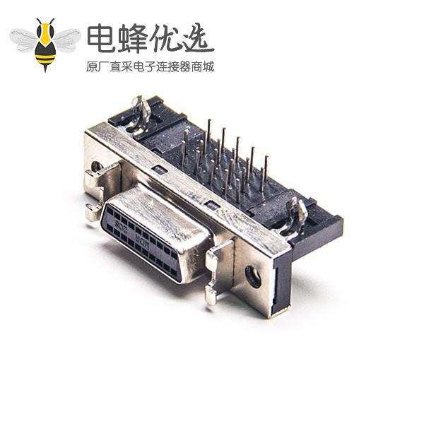 SCSI连接器20P母头HPDB弯式插孔面板安装