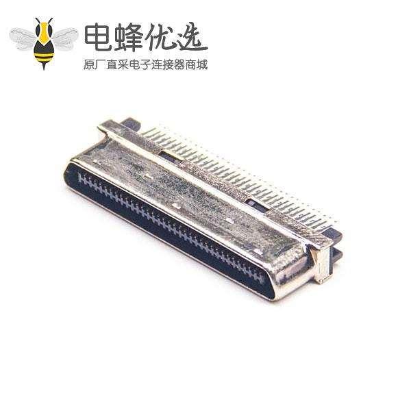 SCSI接口68针VHDCI公头直式夹板式PCB板安装连接器