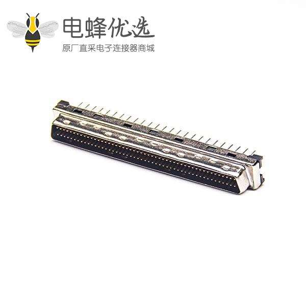 SCSI连接器100芯HPDB公头直式插板PCB板安装