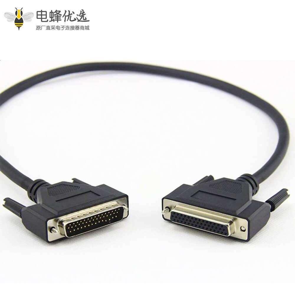 HDB44针直公头转直母头连接线1米