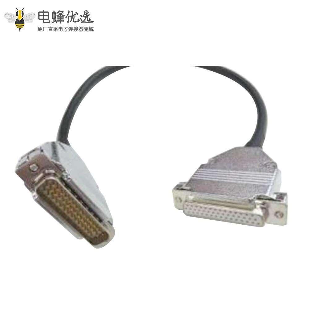 HDB线材44针公头直转母头直锌合金铁壳装配式连接线1米