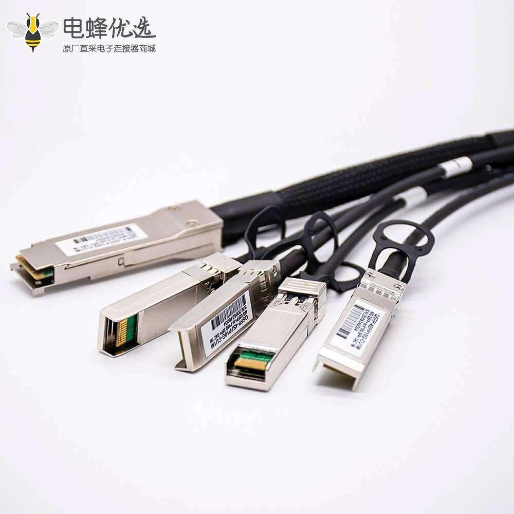 高速堆叠线缆DAC QSFP+转4xSFP+传输速率40Gbps线长1M无源铜缆
