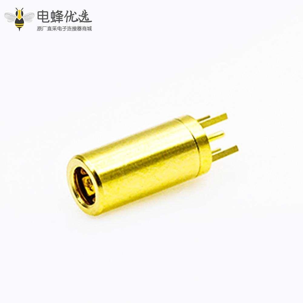 RF连接器SSMB连接器母头直式焊接PCB板安装插孔式