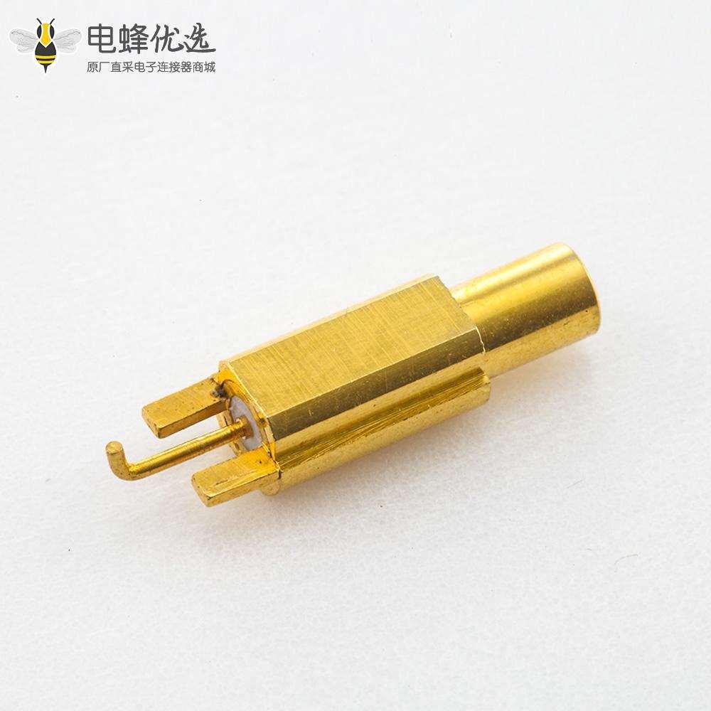 公头SSMB连接器插头直式PCB板焊接沉板安装
