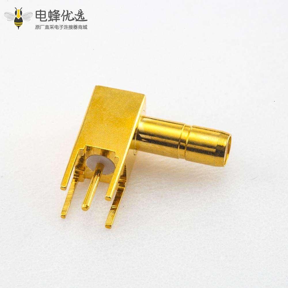 插孔型SSMB连接器公头弯式焊接PCB安装