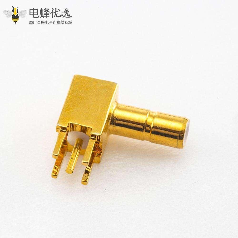 180度SSMB连接器公头直式焊接PCB安装插孔