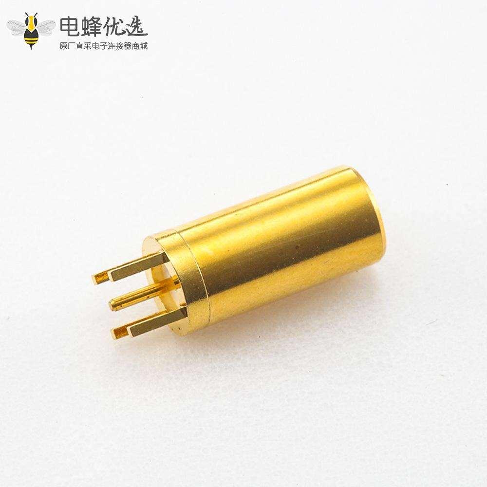 PCB焊接板安装SSMB连接器母头直式插孔
