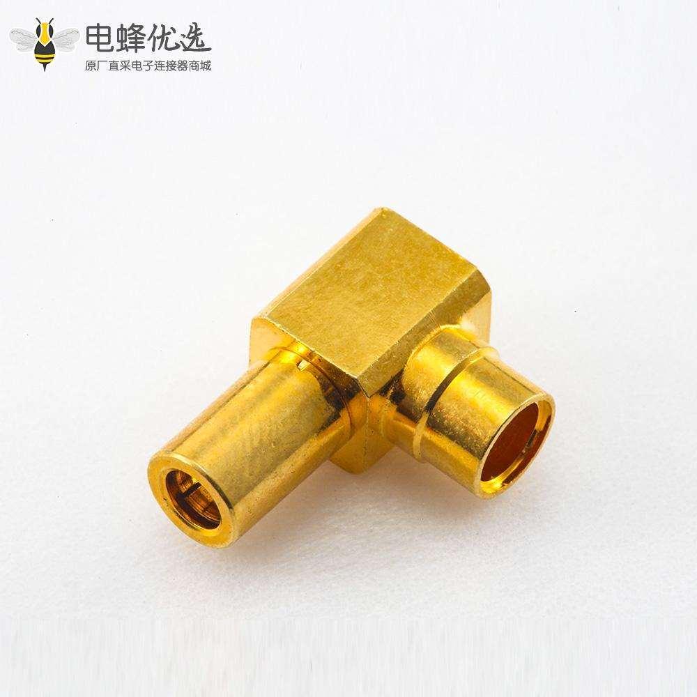 弯式SSMB连接器母头插座焊接半柔/半刚-3电缆