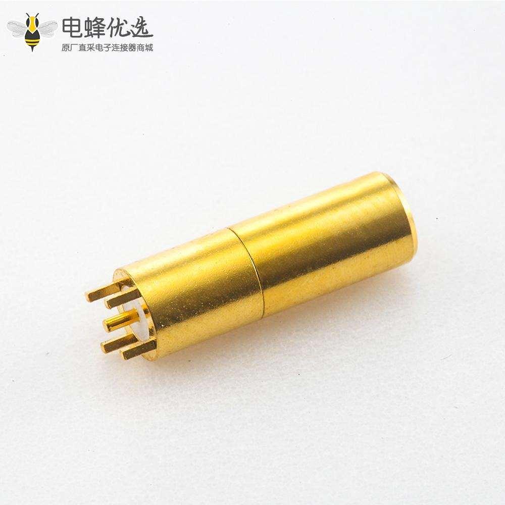 RF连接器SSMB连接器母头直式PCB焊接板安装插孔