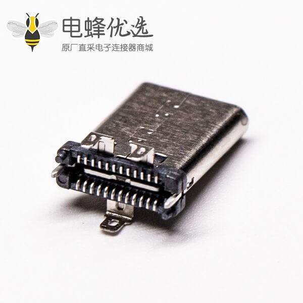 Type C USB直立式180度母头贴板式接PCB板