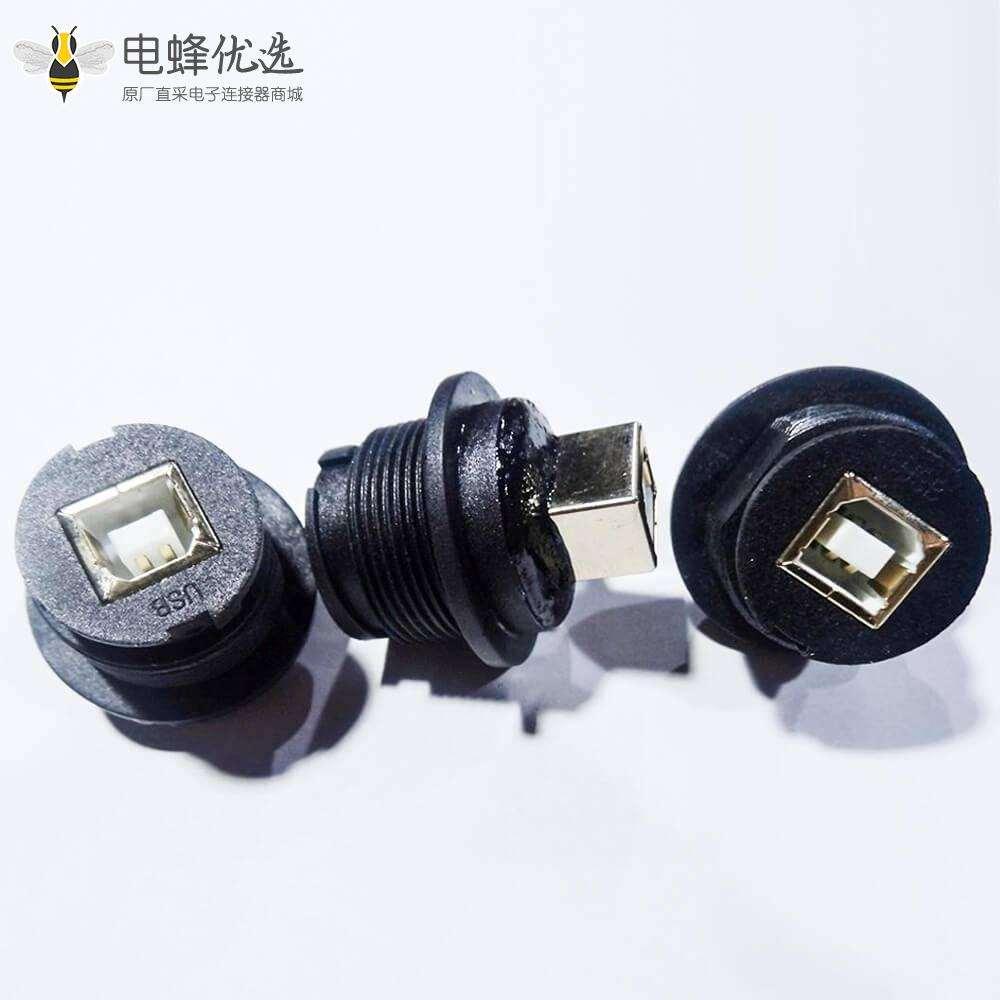 USB 2.0 B母转母防水IP67转接头