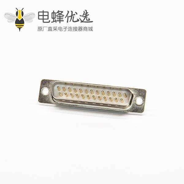 DB连接器180度直式公针25pin焊线式
