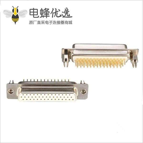 D-sub 44 pin公头连接器标准型车针焊板带鱼叉