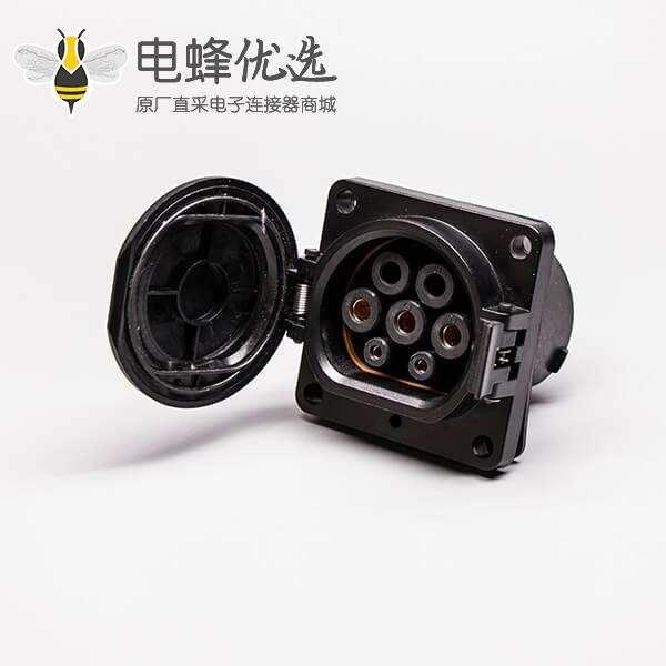 电动汽车充电桩充电座国标电动汽车车端7孔接口充电枪交流32A 7KW