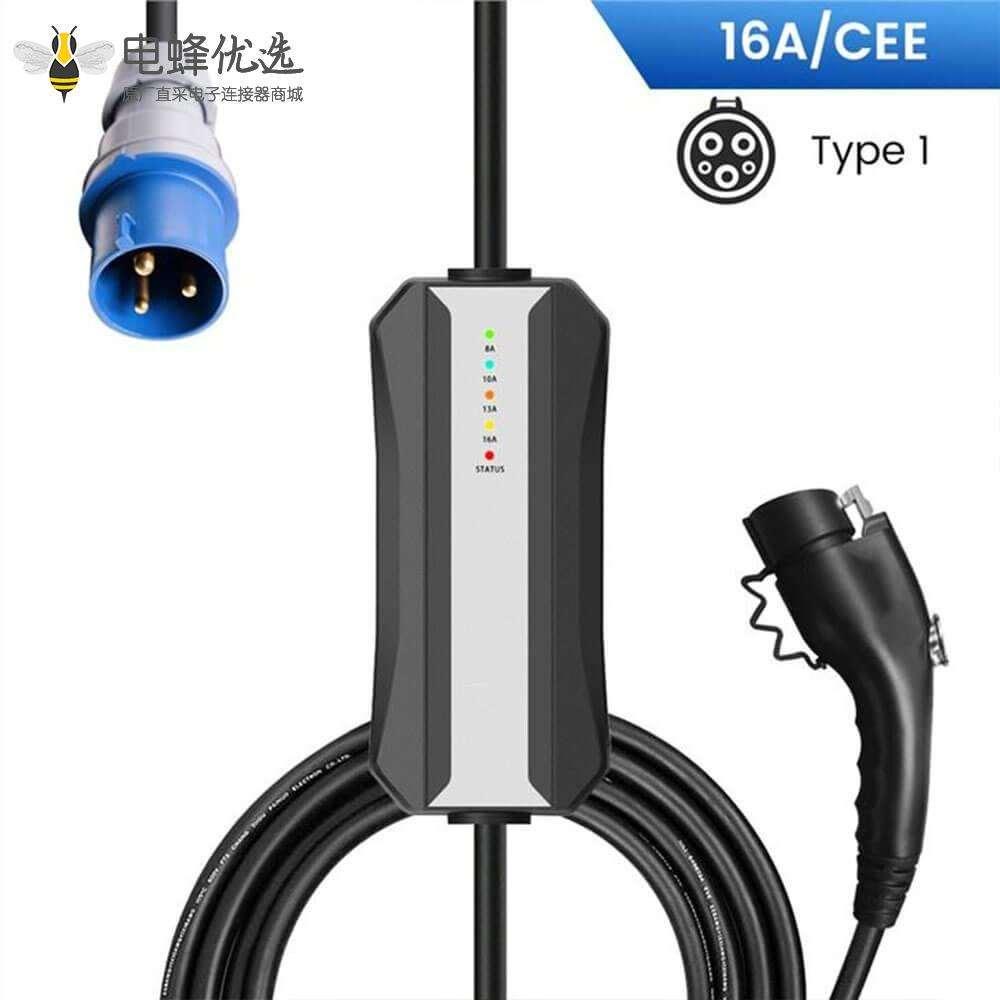 便携式充电设备美标充电线新能源电动车充电接CEE插头