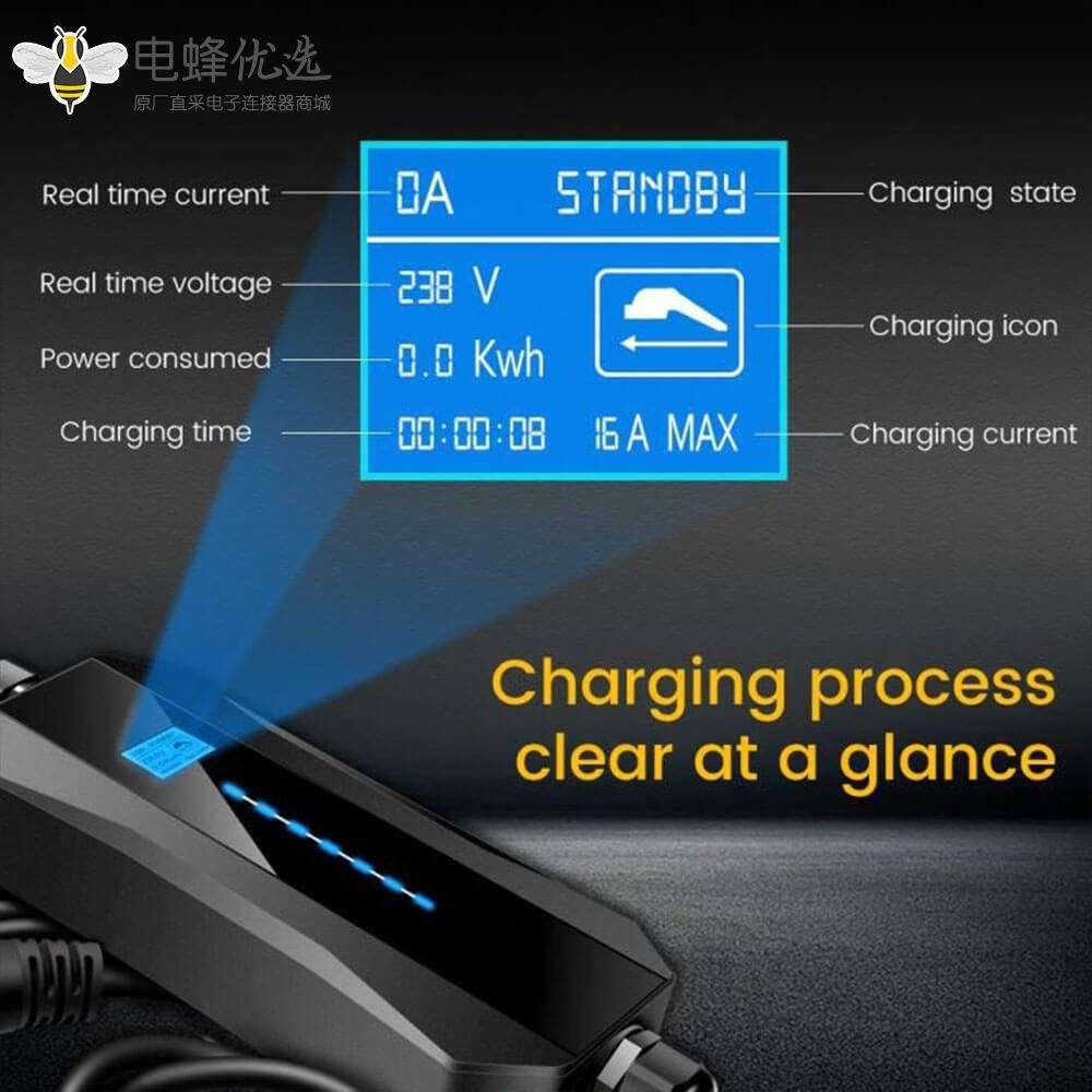 充电枪新能源汽车充电电池充电器家用充电线5米英式插头