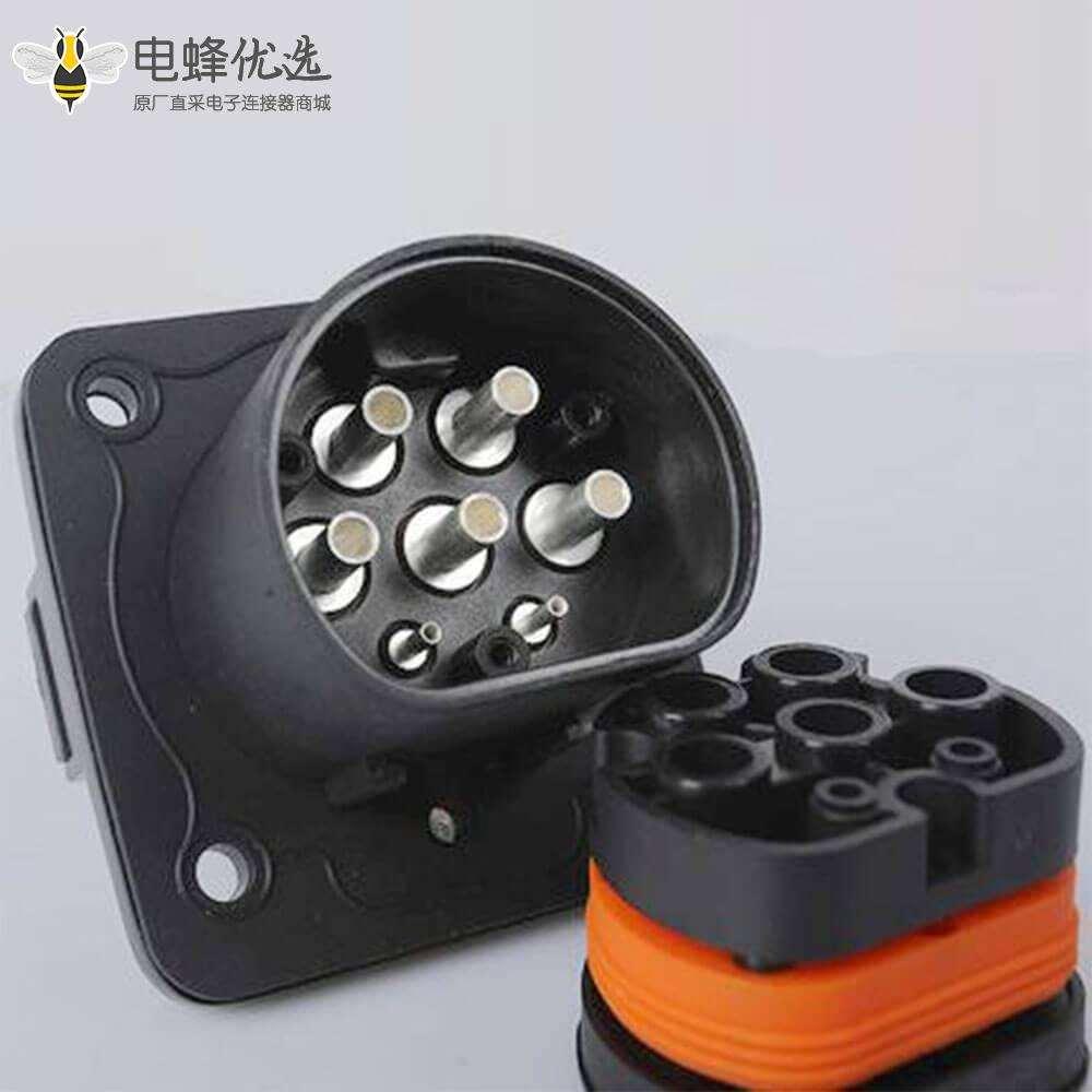 电动汽车新国标充电枪AC16A/32A 7孔 GB/T20234车辆端充电插座