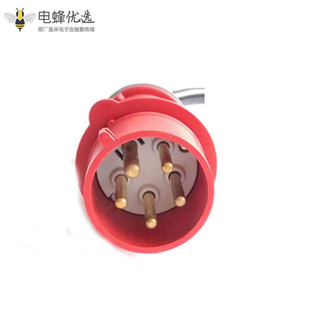 新能源家用充电枪2型欧标标充电枪电动汽车充电器16A接红色CEE插头