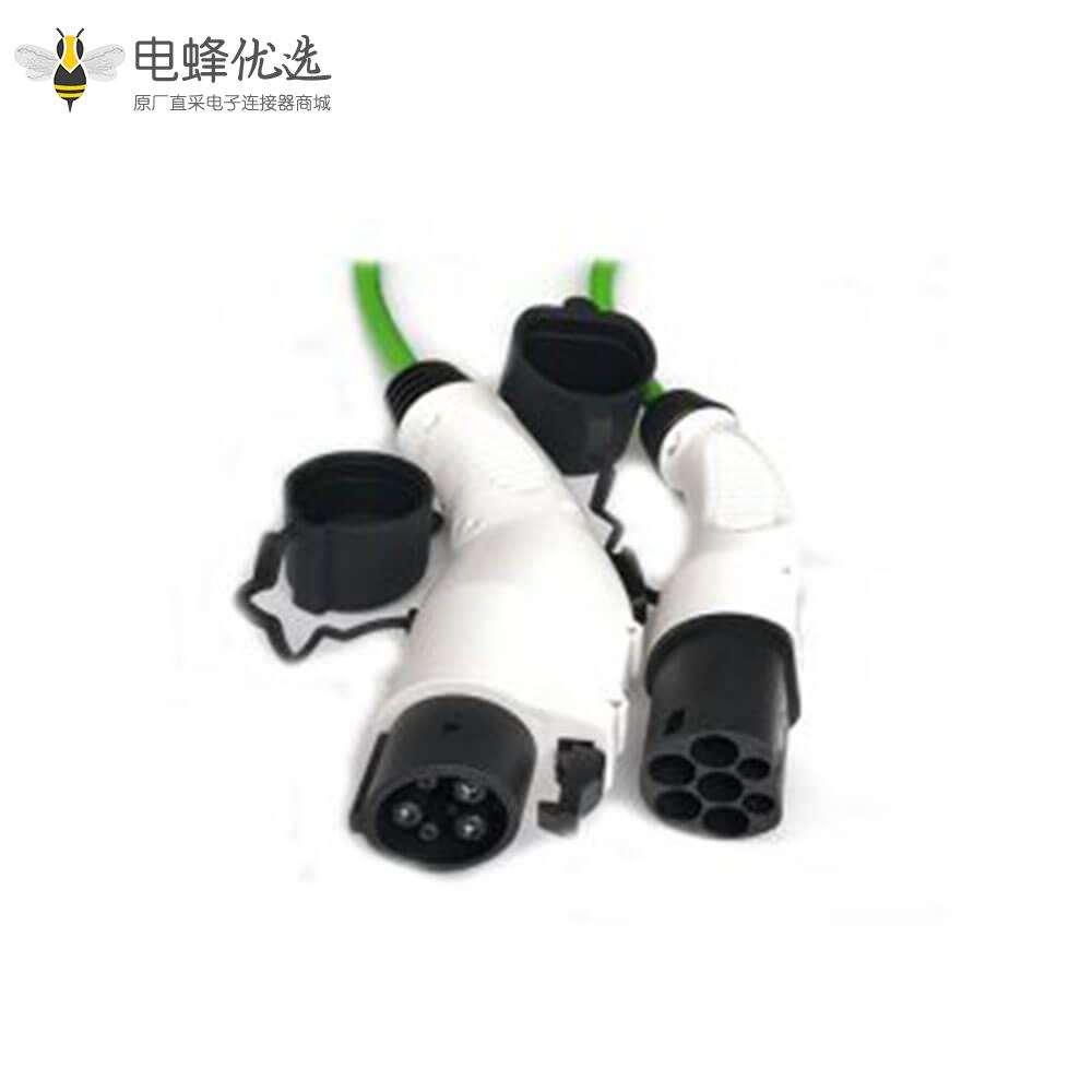 欧标转美标新能源充电器电动车双头充电枪充电线16A 1米