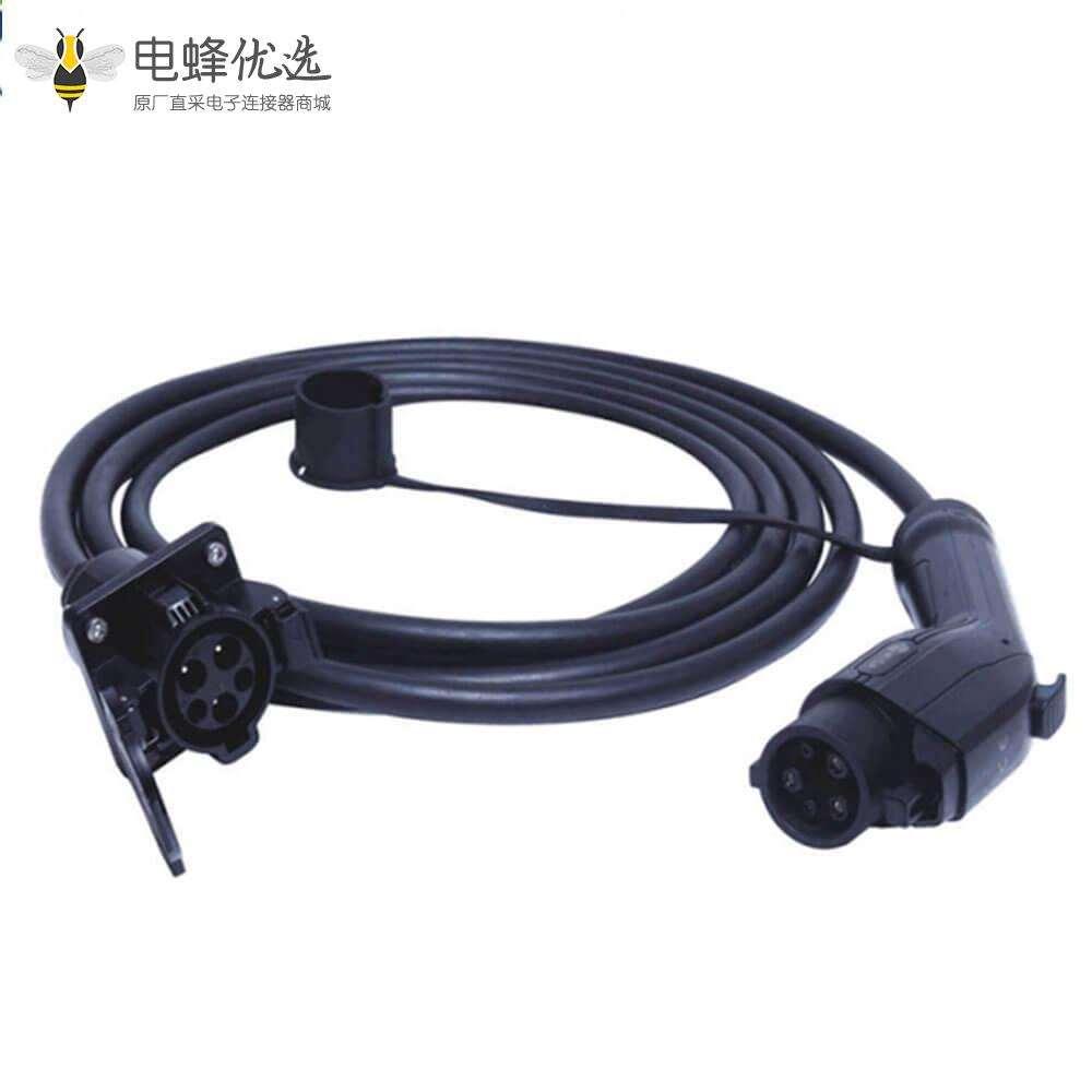 美标充电枪电动汽车充电线美标插头转插座 5米