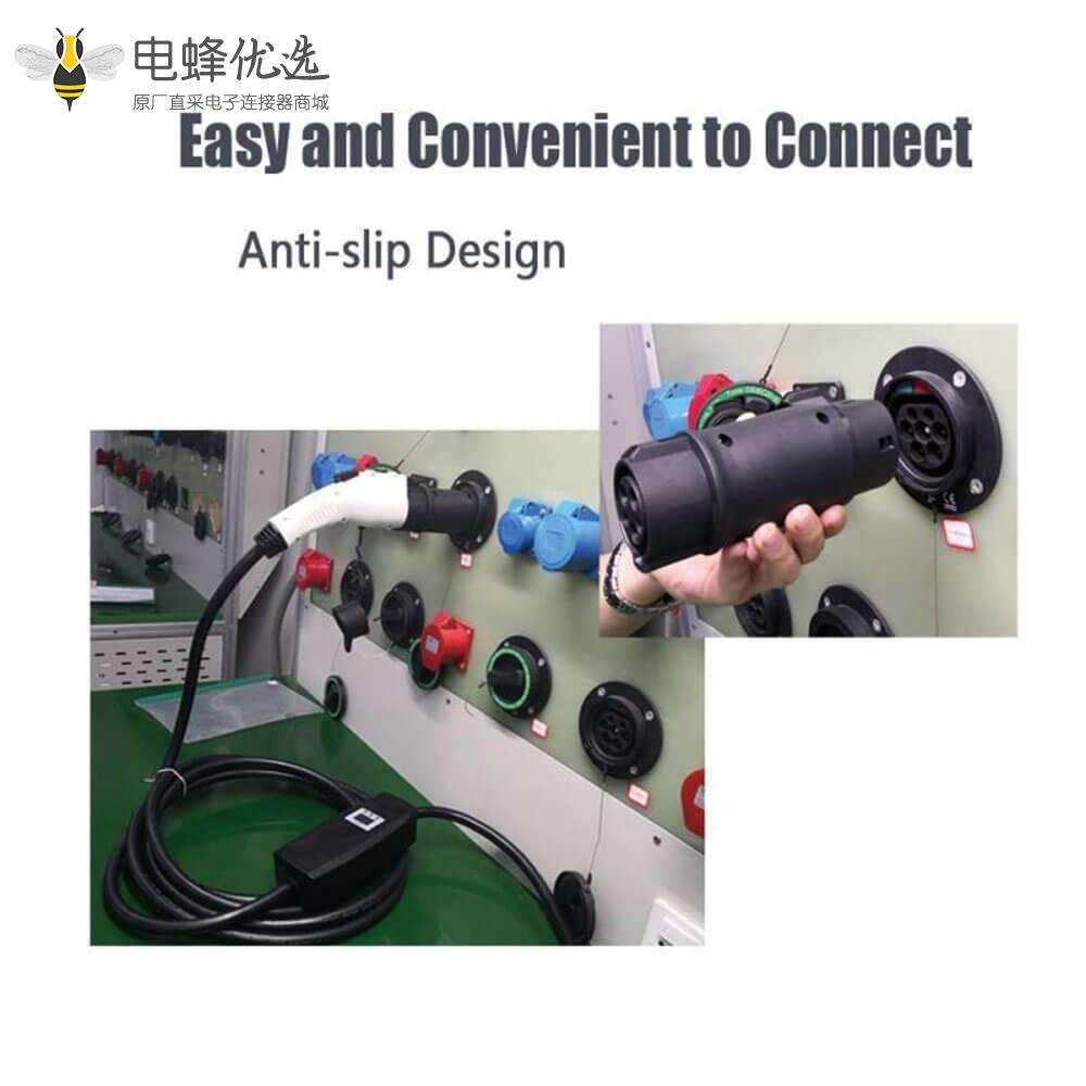 美标转欧标充电枪转换头适用于特斯拉保时捷电动汽车充电桩