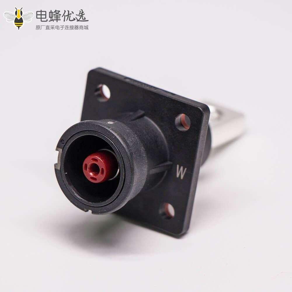 新能源电源储能连接器直式8mm黑色IP67防水125A大电流连接器