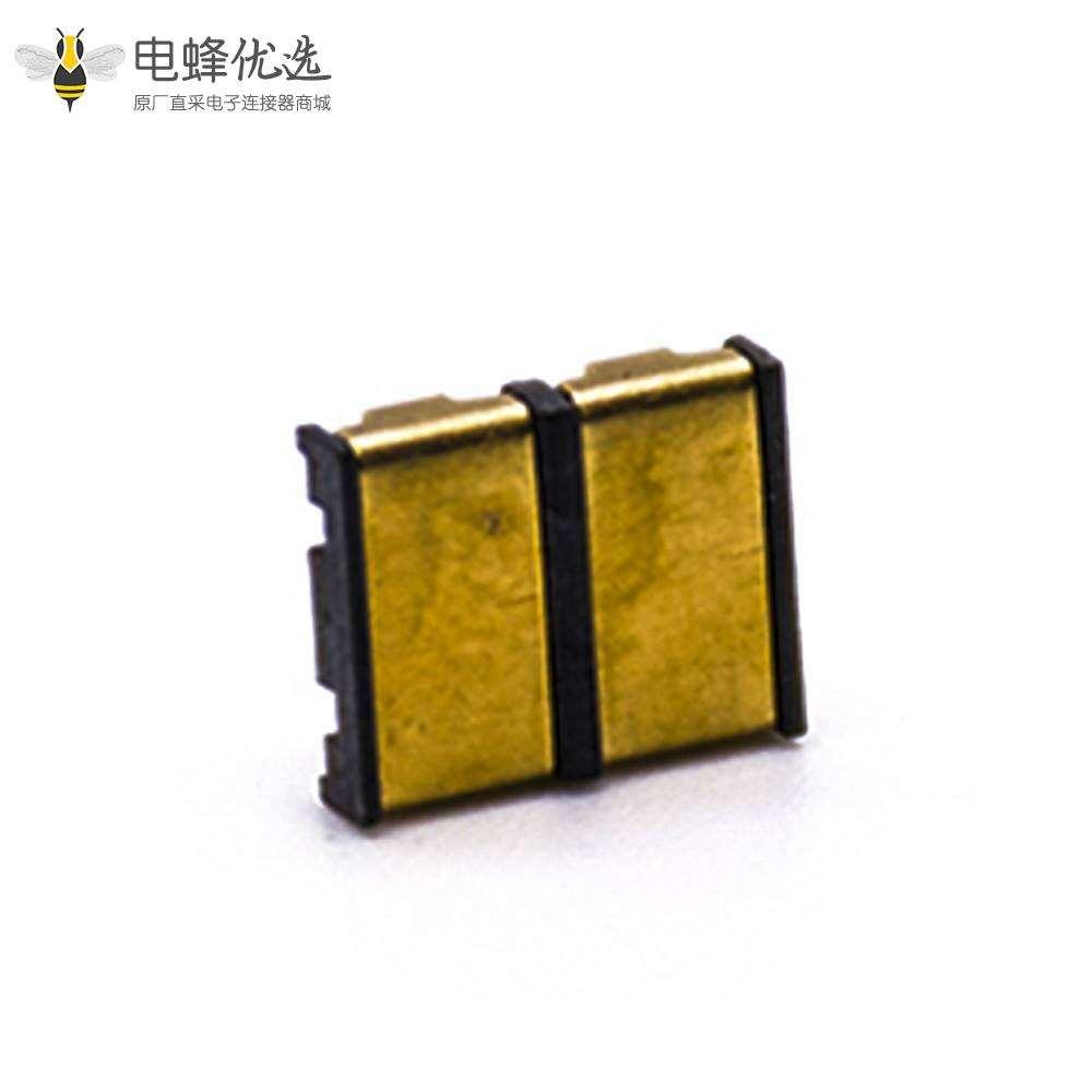 锂电池座2芯配电设备电源连接弹片4.0MM间距接触片