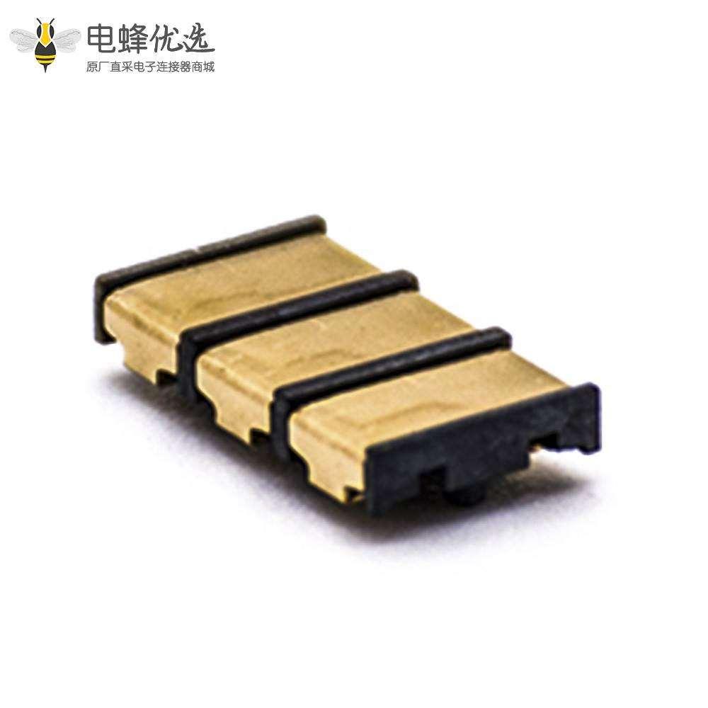电池连接器3P电源连接母座4.0PH塑高1.9H接触片