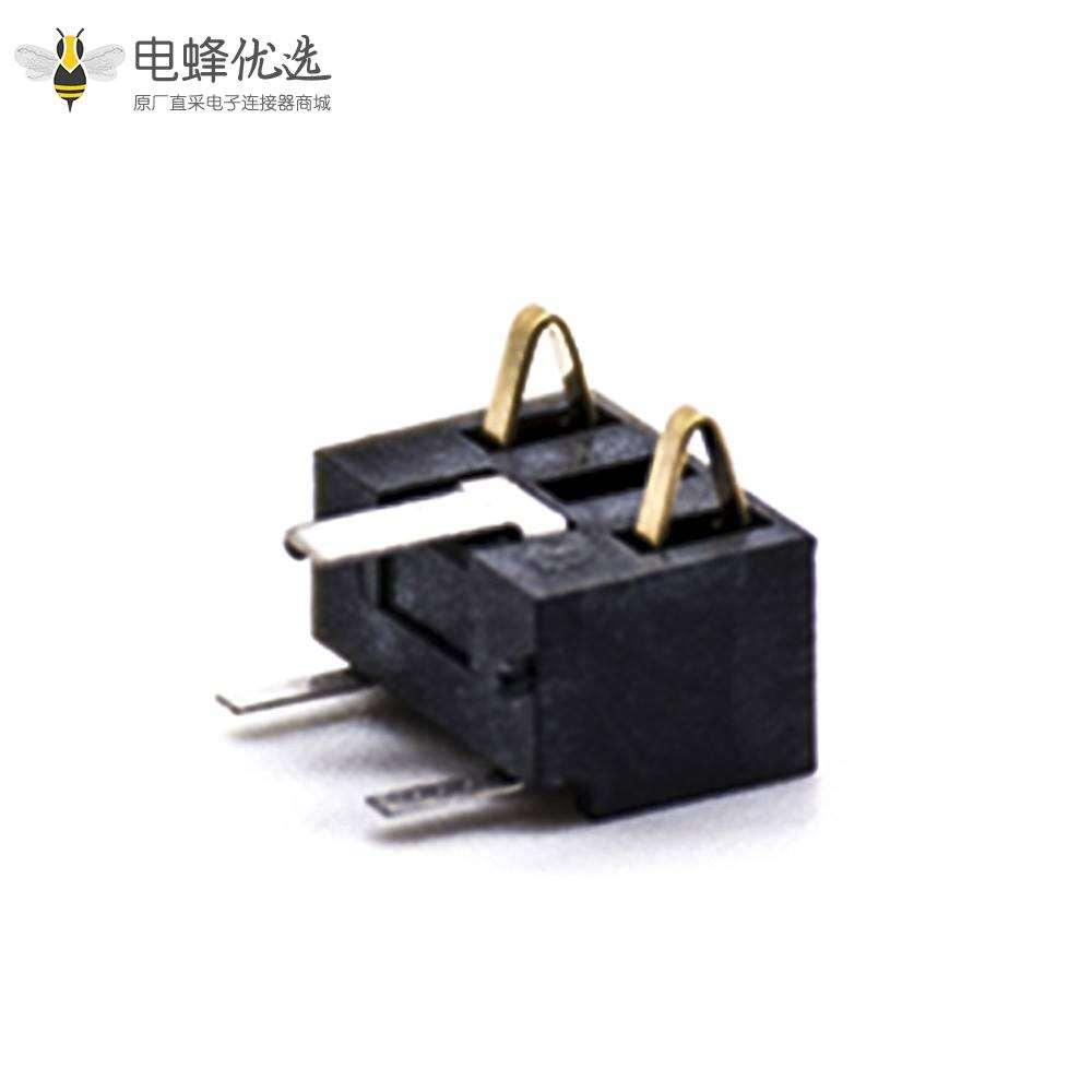 电池弹片2芯5.0MM间距卧式电池座连接器PCB板安装