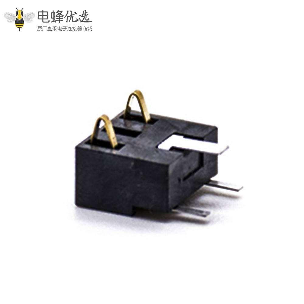 弹片式连接器2芯5.0PH镀金PCB板安装手机锂电池座