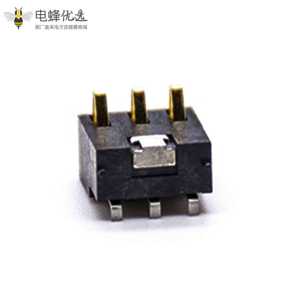 接触弹片电池镀金PCB板安装3芯2.5间距电池座