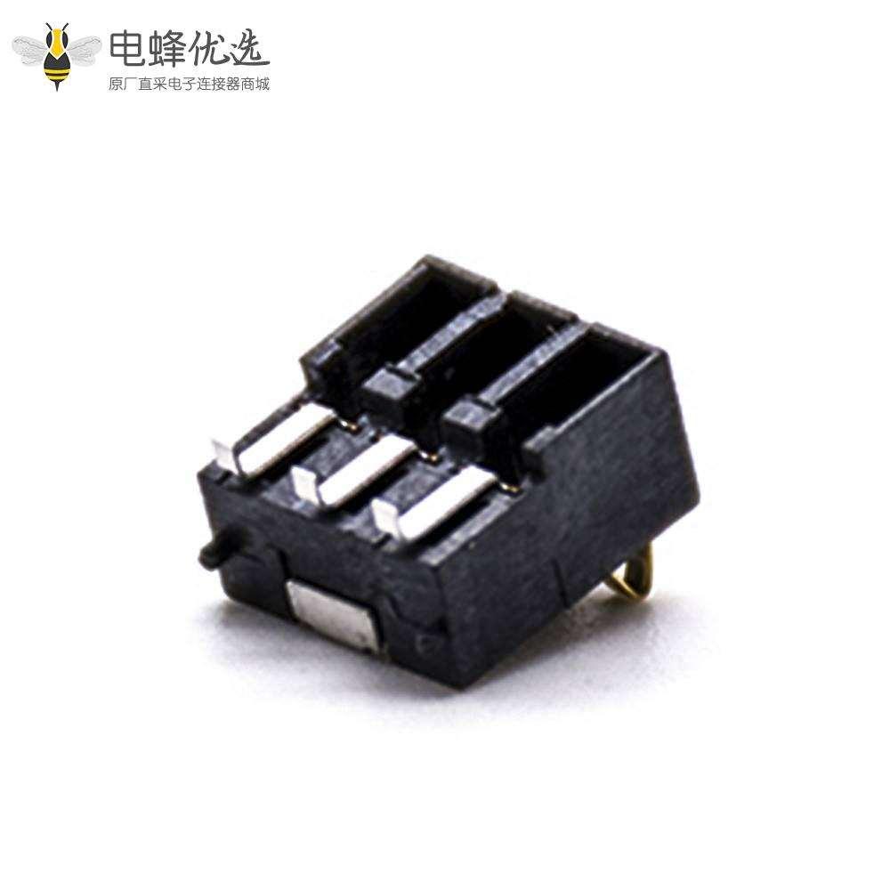 弹片电池连接器3芯8H塑高贴板2.5间距移动设备电池座