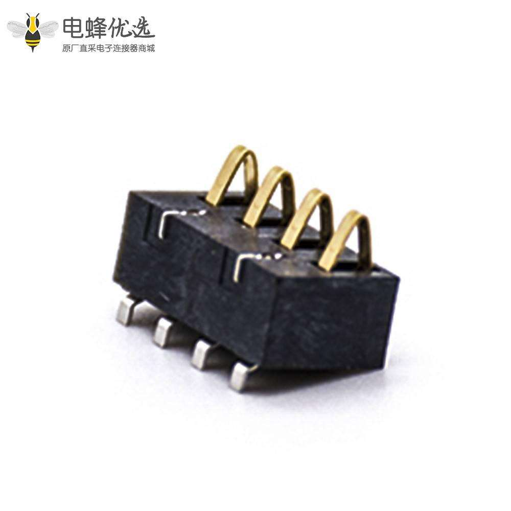 4芯电源连接器2.5PH卧式电池座塑高5.4H接PCB板