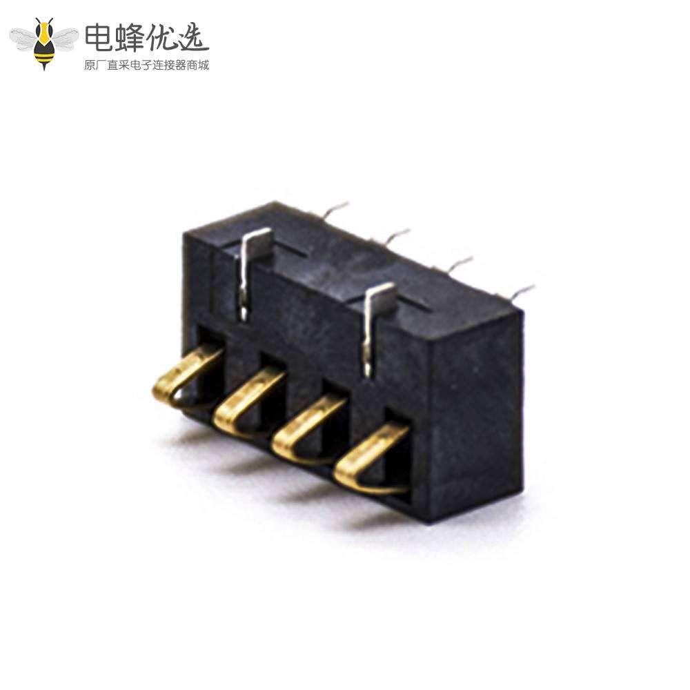 手机锂电池座镀金4芯电池接触弹片2.5PH塑高5.4H