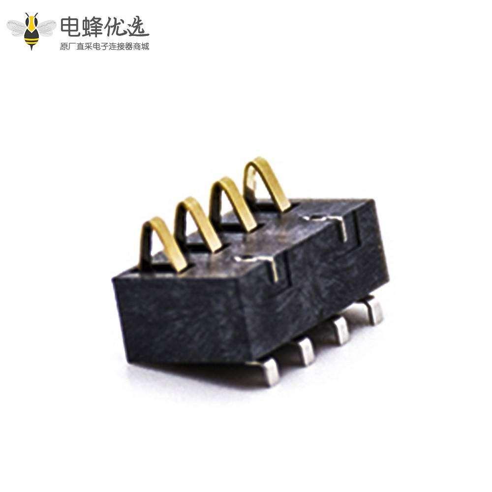 弹片式连接器锂电池接触弹片4芯2.5MM间距电池座