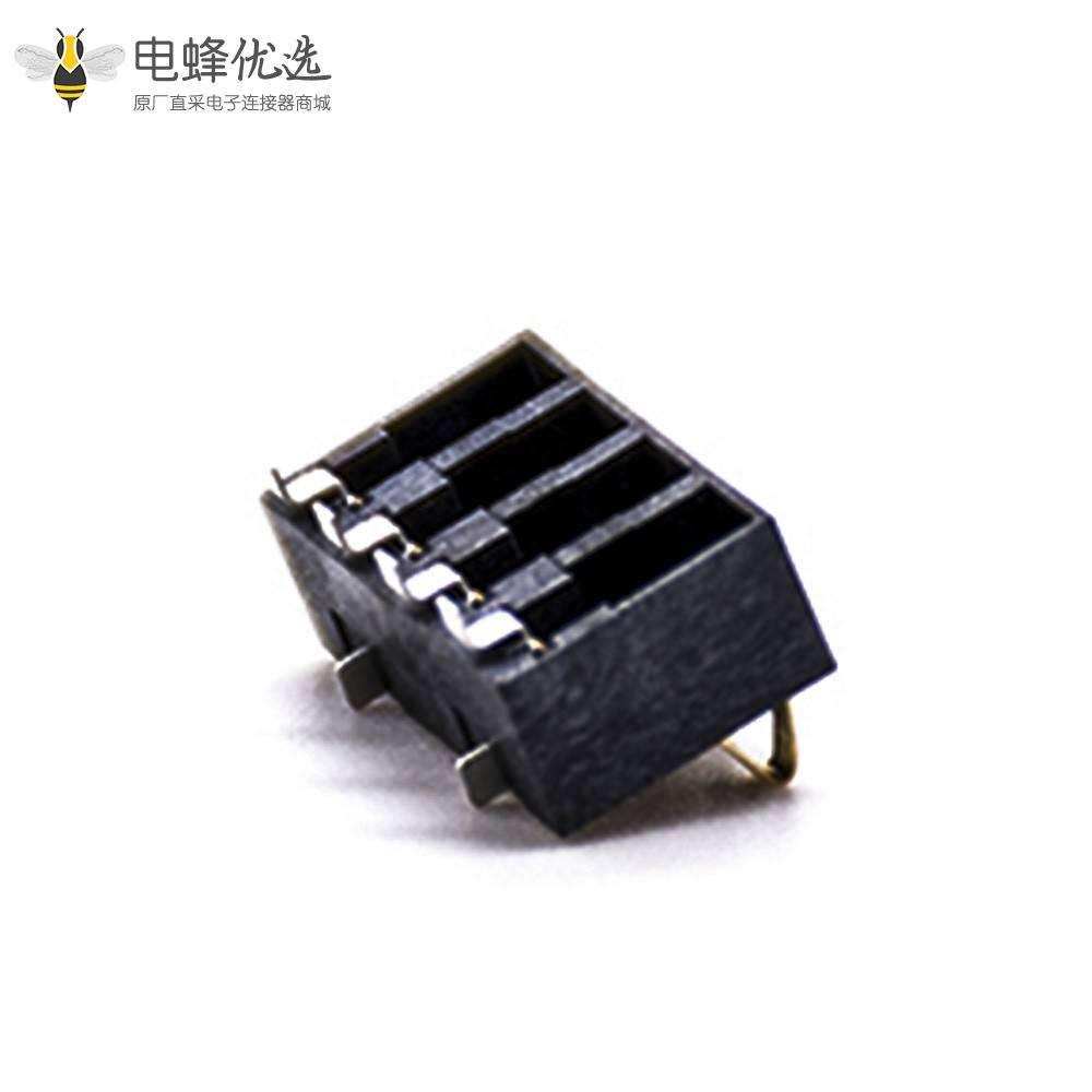 弹片电池2.5PH接PCB板镀金4芯卧式电池座连接器